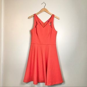 Betsey Johnson Coral Textured Cut Out Dress
